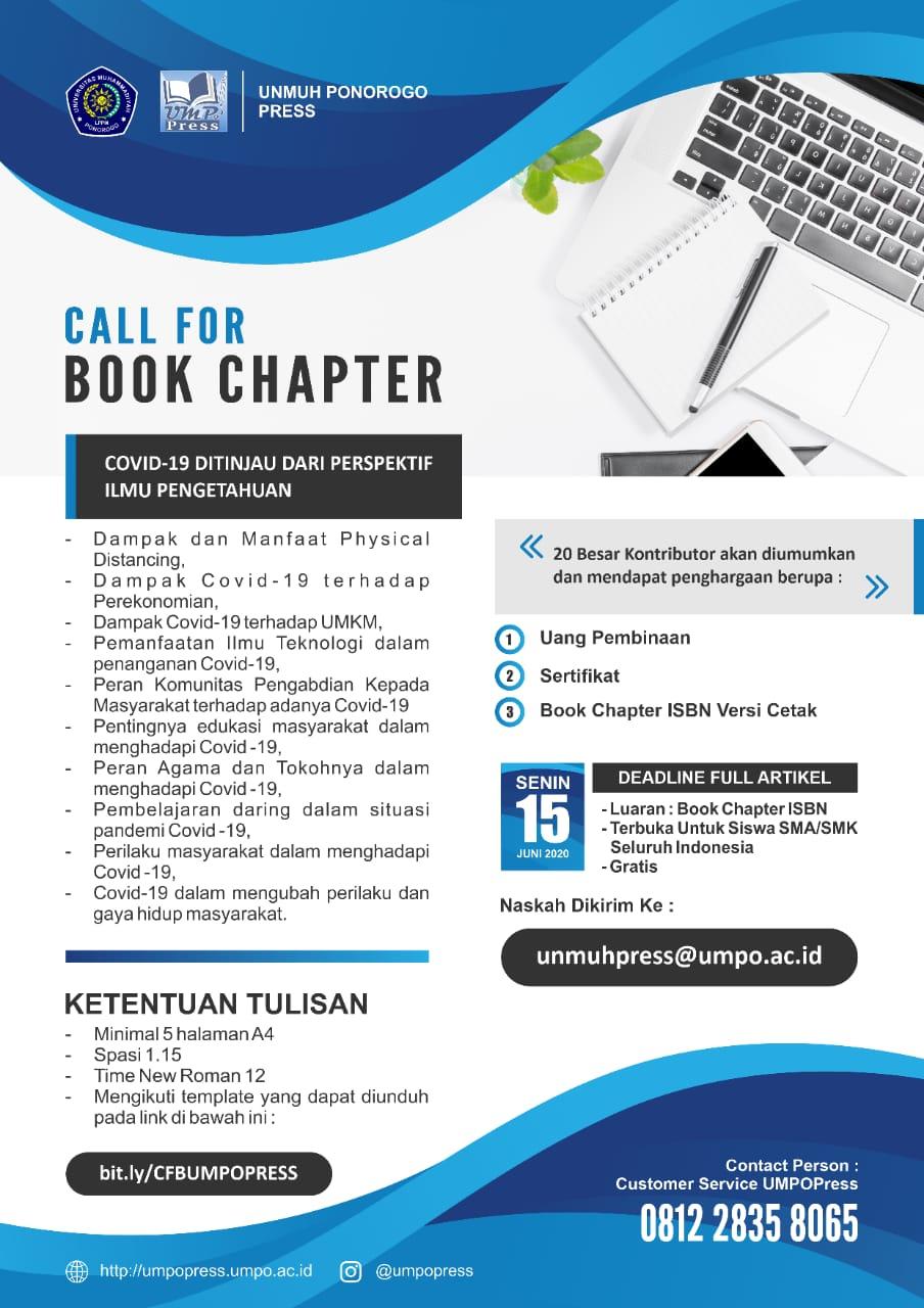 Call For Book Chapter Lembaga Penelitian Pengabdian Kepada Masyarakat